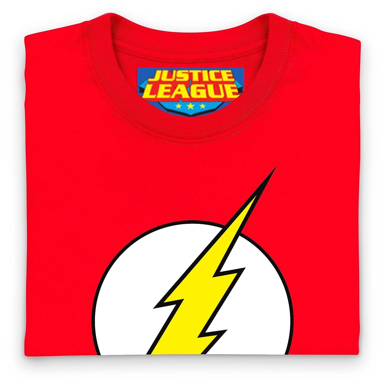 47435bf40ad61 DC Comics marque logo Flash T-shirt pour enfant Rouge Feu plastique robuste   Amazon.fr  Vêtements et accessoires