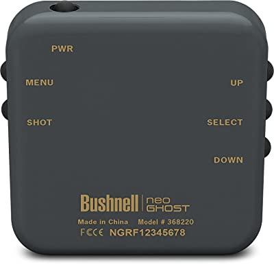 Bushnell Neo Ghost Golf GPS button
