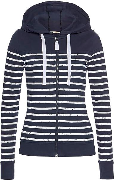 ELFIN Jacke Damen Kapuzenjacke Sweatjacke Hoodie Sportliche