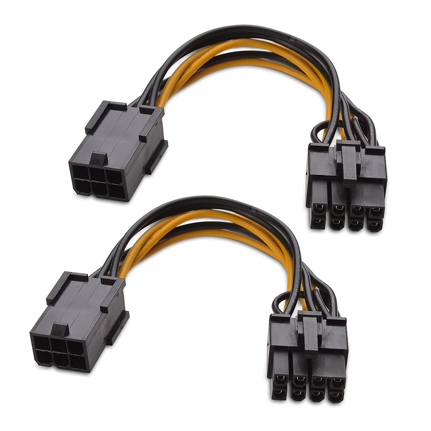 Cable Matters 2 Pack 6 Pin Pcie To 8 Adapter Power Wiring Diagram 4 Inches Buy