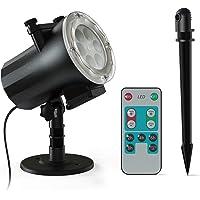 Navidad Halloween Luces de Proyector, Ltteny Lámpara de Proyección con 12 Diapositivas y Temporizador Control Remoto…