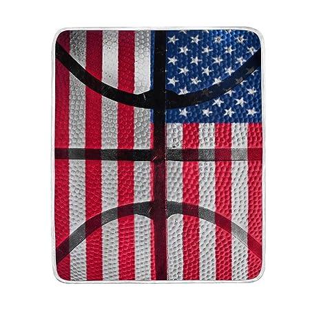 Mnsruu Manta para sofá, Bandera de Estados Unidos de Baloncesto ...