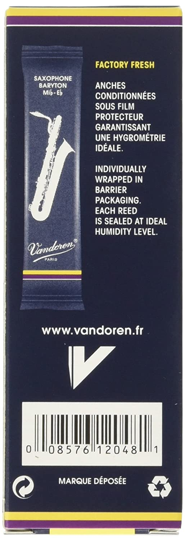 Vandoren SR243 Traditional Baritone Saxophone Reeds Strength 3