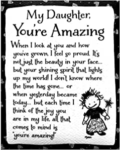 "Blue Mountain Arts Refrigerator Magnet ""My Daughter, You're Amazing"" 4.0 x 3.25 in. Birthday, Christmas, Graduation, or ""I Love You"" Gift from Mom or Dad, by Marci and the Children of the Inner Light"