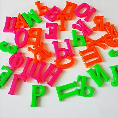 33 pcs Russian Alphabet Fridge Magnets Baby Educational Learning Toys: Sports & Outdoors