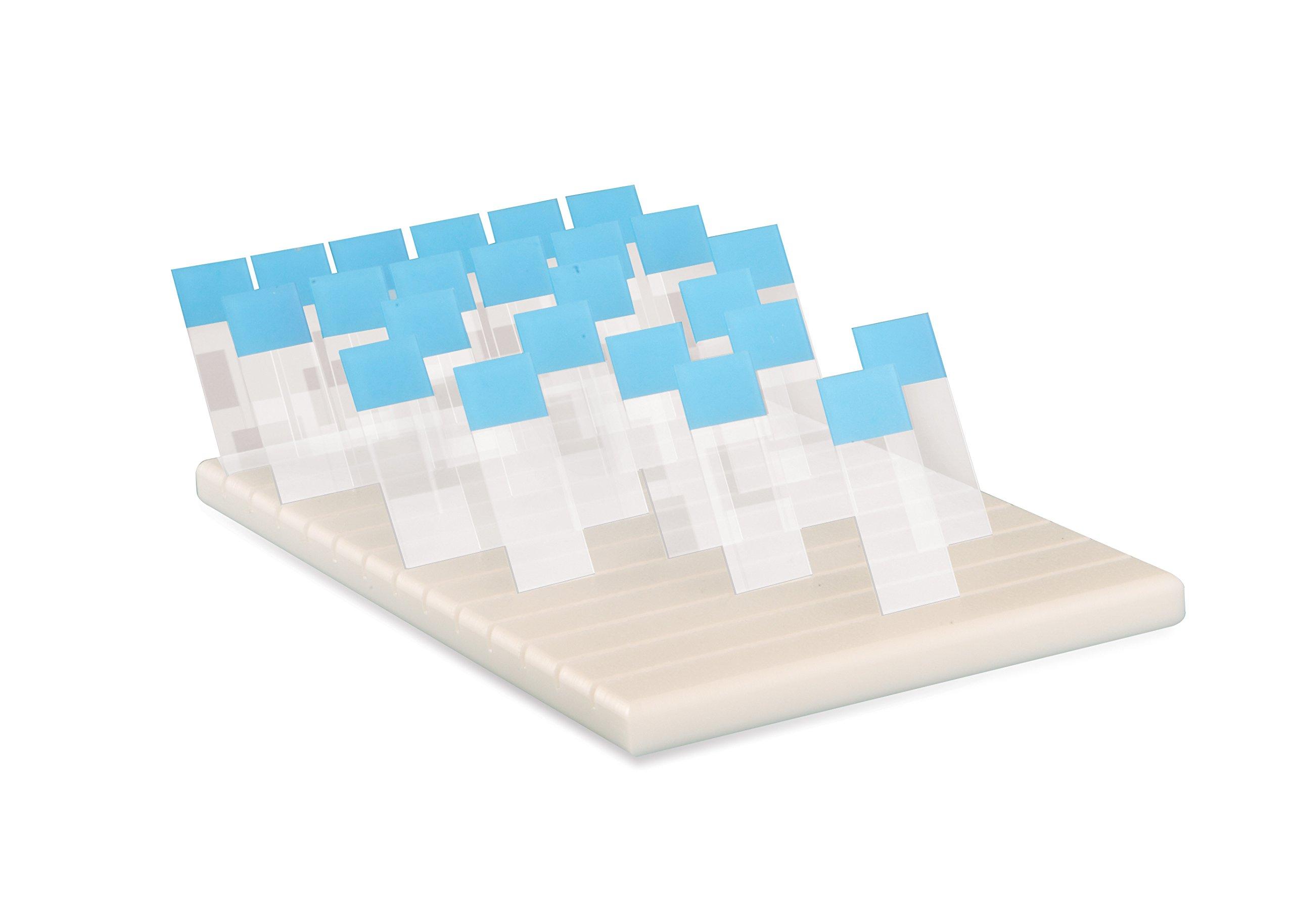 Heathrow Scientific HS15981B Slide Holder for 78 Slides, Natural, Polyethylene, White