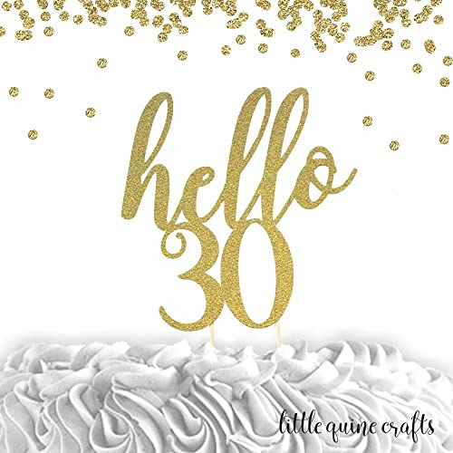 ROSE GOLD Cake Topper with Age Happy Birthday Glitter party celebration
