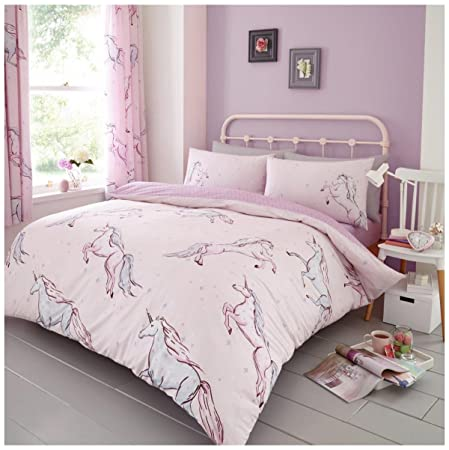 Gaveno Cavailia Luxurious Star Unicorn Bed Set With Duvet Cover And