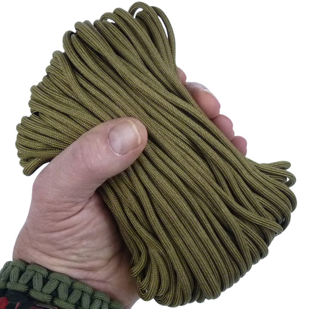 MilSpec Paracord Coyote Brown 498, 1,010 ft. Spool, Military Survival Braided Parachute 550 Cord. Use with Paracord Tools for Tent Camping, Hiking, Hunting Ropes, Bracelets & Projects. Plus 2 eBooks. by Paracord 550 Mil-Spec (TM) (Image #1)
