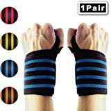 """Wrist Wraps Weightlifting,23"""" Wrist Support Straps with Thumb Loops (1Pair) Hand Exercise Brace Professional Grade Wrist Strength Belt for Gym Training,Workouts Protector from IWAMEE"""