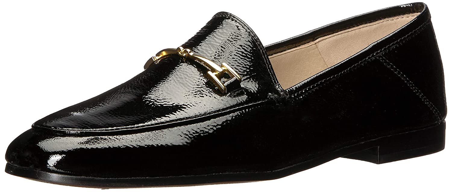 Black Patent Sam Edelman Women's Loriane Loafer Flats