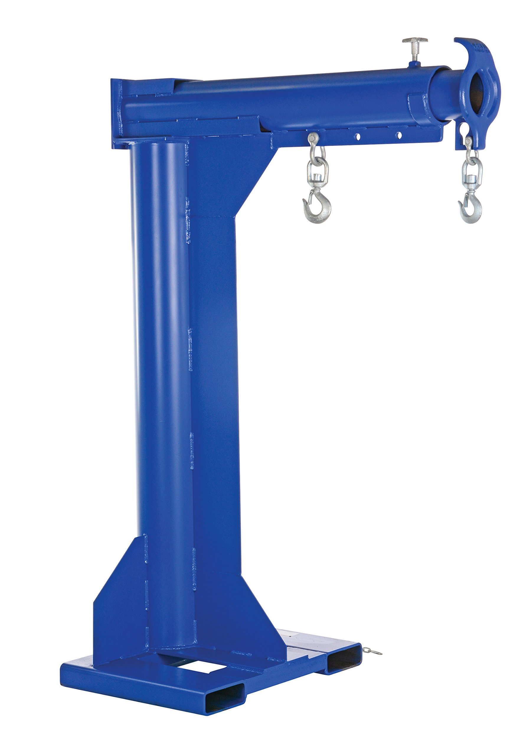 Vestil LM-HRT-6-24 Steel Telescoping High Rise Boom, 6000 lb Capacity, 24'' Fork Pocket Center, Overall LxWxH (in.) 32 x 54.875 x 79.8125, Overall Extended Length (in.) 92-5/8, Minimum Hook Point (in.) 30, Maximum Hook Point (in.) 90, Blue