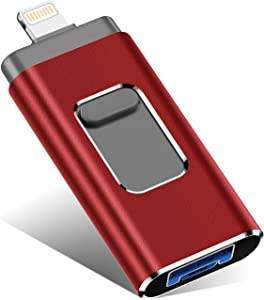 USB Flash Drive for iPhone 1000GB, iPhone Memory Stick, iPhone Photo Stick External Storage for iPhone/PC/iPad/Android and More Devices with USB Port (1000GB, WQ-red)
