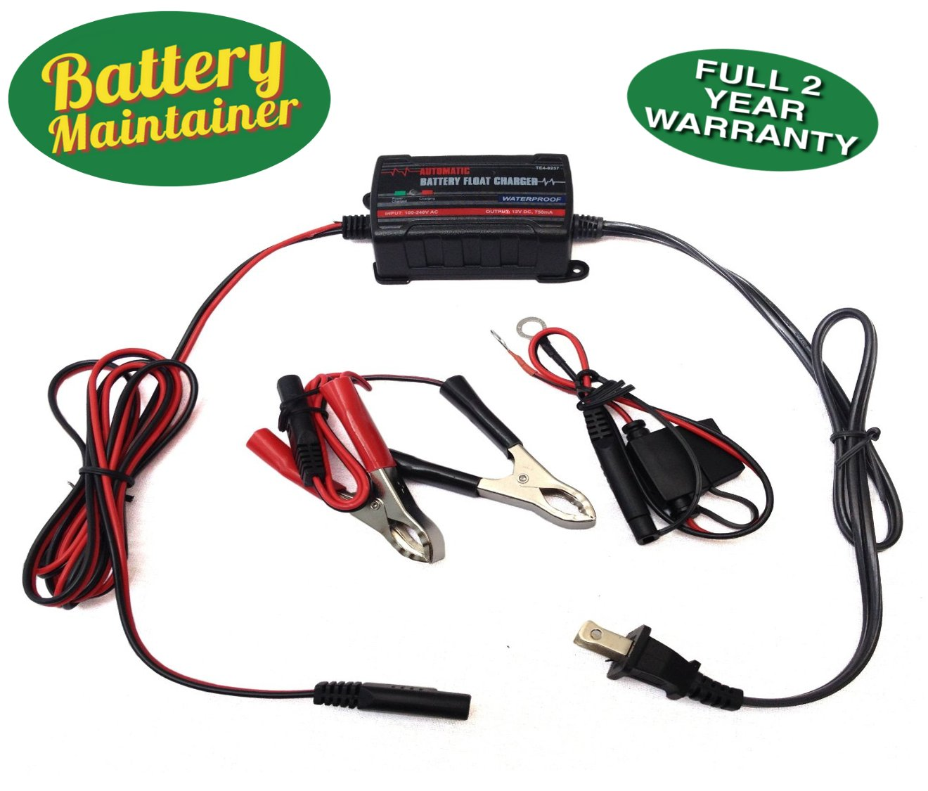 Battery Maintainer 12v 750ma Automatic Battery Charger