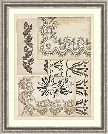 Amazon.com: Framed Art Print \'Lace Sketchbook II\' by Vision Studio ...