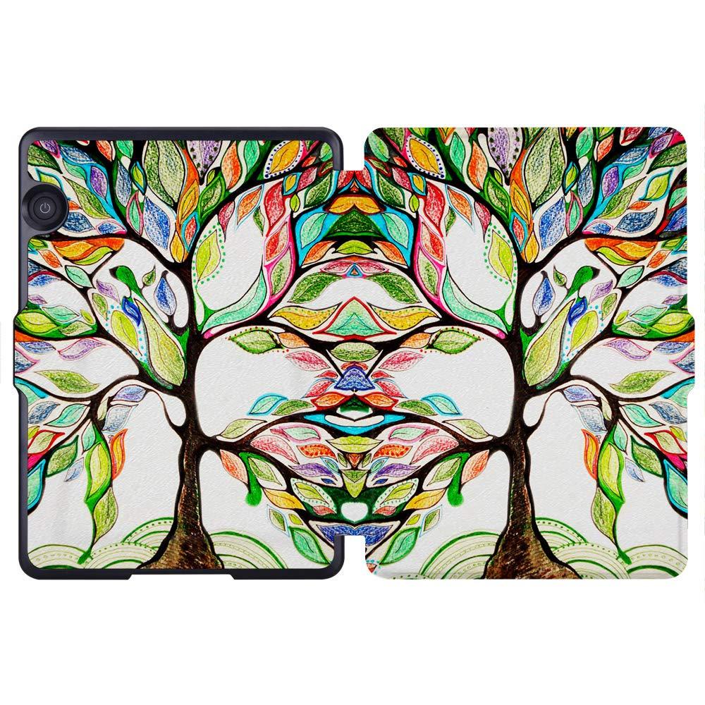Amazon.com: Huasiru Painting Case for Amazon Kindle Voyage Cover with Auto Sleep/Wake, Happy tree: Kindle Store