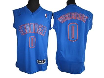 Thunder 0 Westbrook azul camisetas size-xxxl