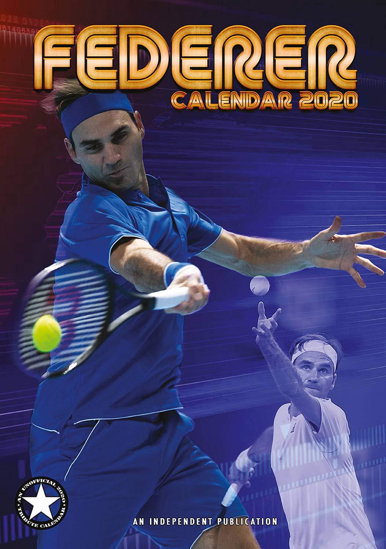 Sports Calendar 2020 Roger Federer Calendar   Calendar 2019   2020 Calendars   Sports