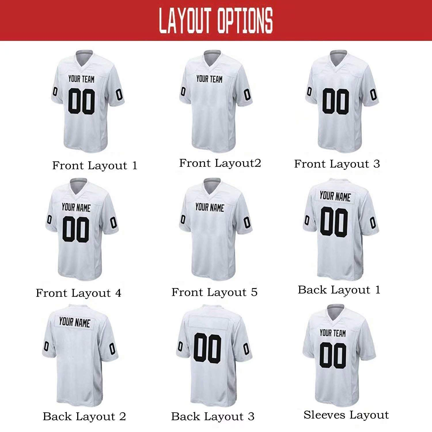b372b2e9537f Men's Custom Football Jersey Custom Your Own/Team Mesh Jerseys Embroidered  Name Numbers American Football Black Jersey: Amazon.co.uk: Sports & Outdoors
