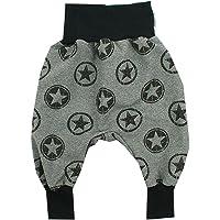 Kleine K/önige Pumphose Baby Jungen Hose /· Modell Sterne Pandab/är Cool Panda schwarz /· /Ökotex 100 Zertifiziert /· Gr/ö/ßen 50-128