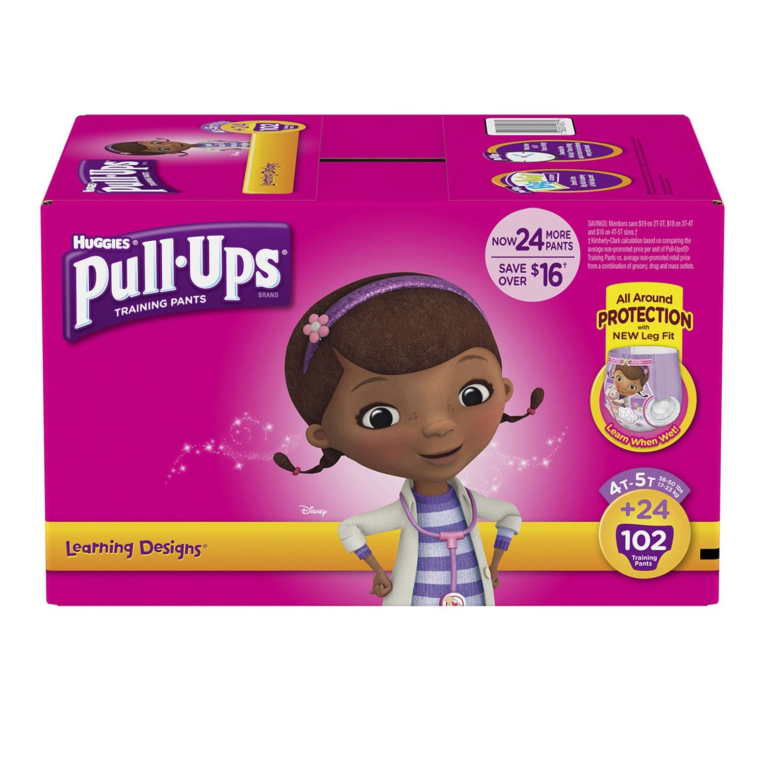 Huggies Pull-ups Training Pants for Girls (Size XL, 4T - 5T, 102 ct.)