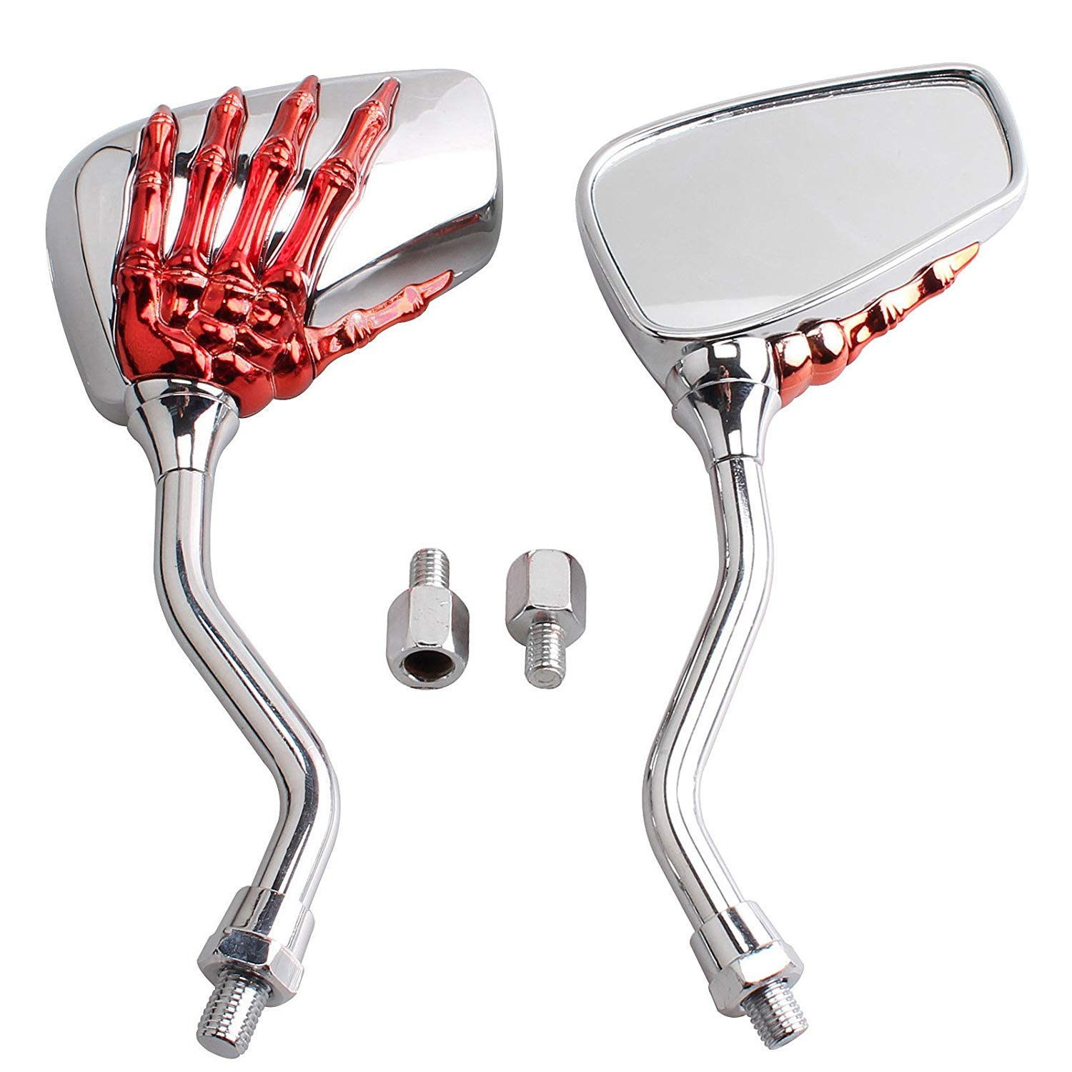 2PCS//set Foldable Rear Mirror Fit For Thread Bolts 8mm 10mm Motorcycle Dirt Bike