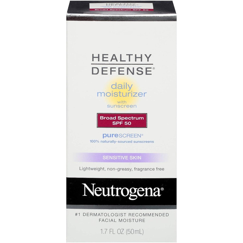 56d59617e Amazon.com: Neutrogena Healthy Defense Daily Moisturizer Sensitive Skin, SPF  50 Lotion 1.70 oz: Beauty