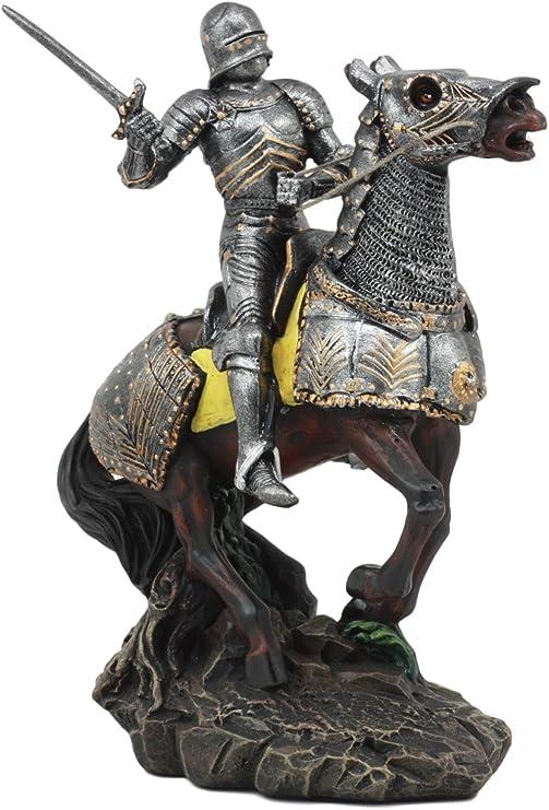 Amazon.com: ebros Swordsman Medieval Caballero con traje de ...