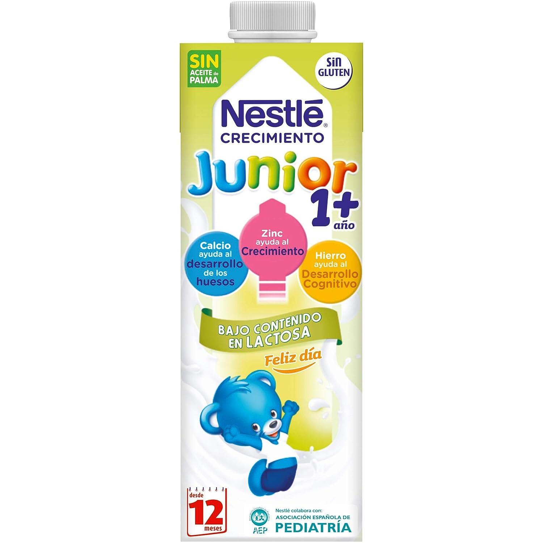 Nestlé Junior 1+ Leche para niños a partir de 1 año - leche baja en lactosa - 4x1L: Amazon.es: Alimentación y bebidas