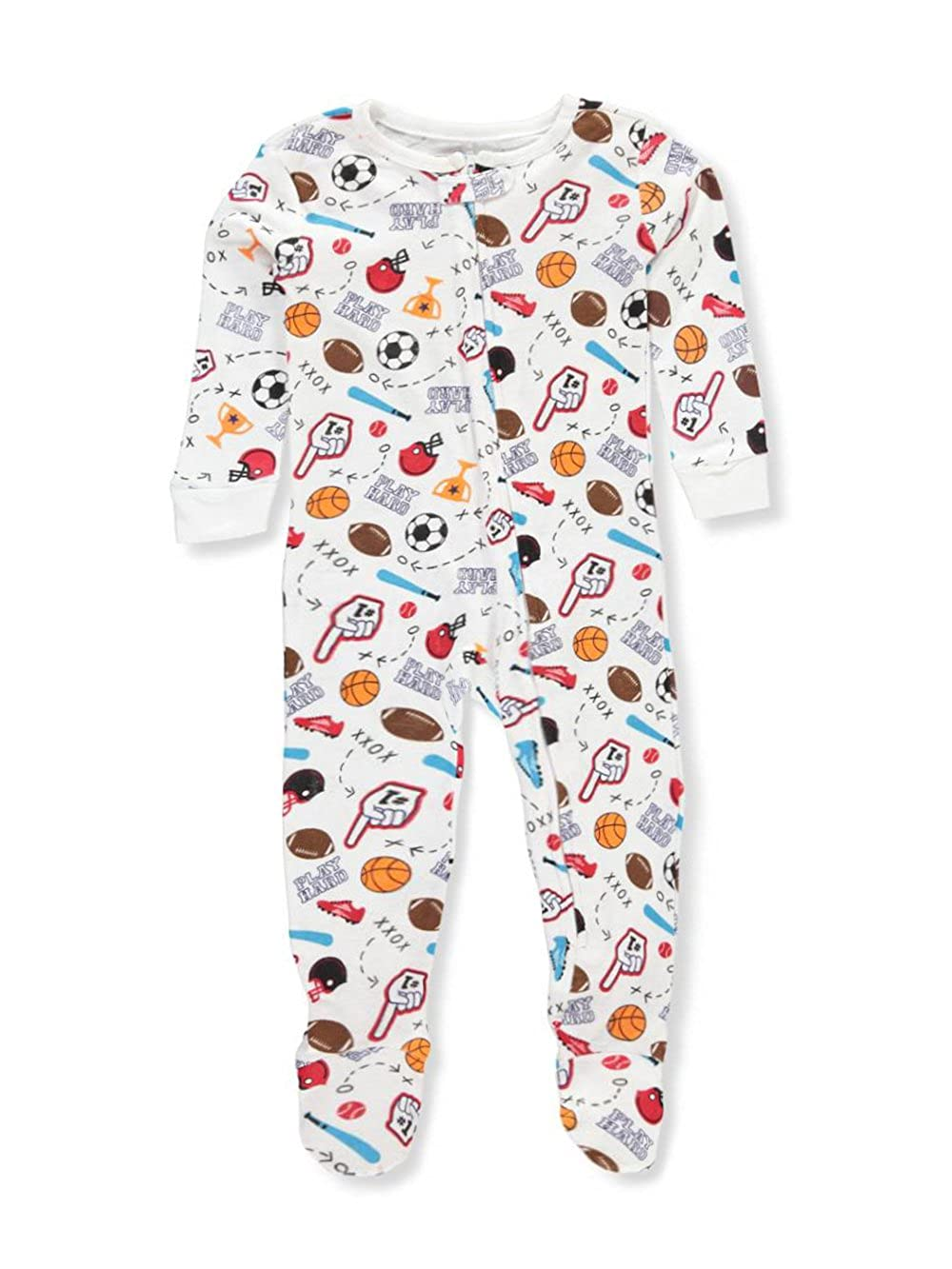 Boys Only Boys' 1-Piece Footed Pajamas 4t