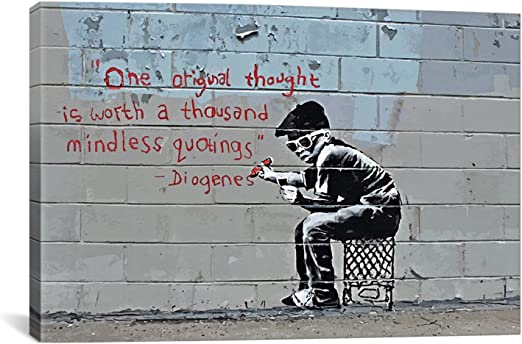 "One Original Thought /& Balloon Girl Two 16/""x20/""  Banksy Prints"