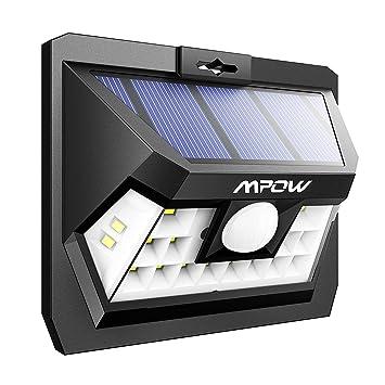 Sensor de movimiento a luz solar de 18 ledes brillantes para pared, panel solar de