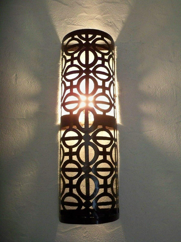 Aplique de pared de hierro forjado marroquí lámpara lámpara de araña oriental, altura 52 cm