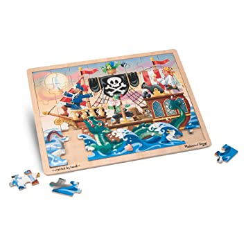 Melissa & Doug Pirate Adventure Wooden Jigsaw Puzzle (48 Pieces)