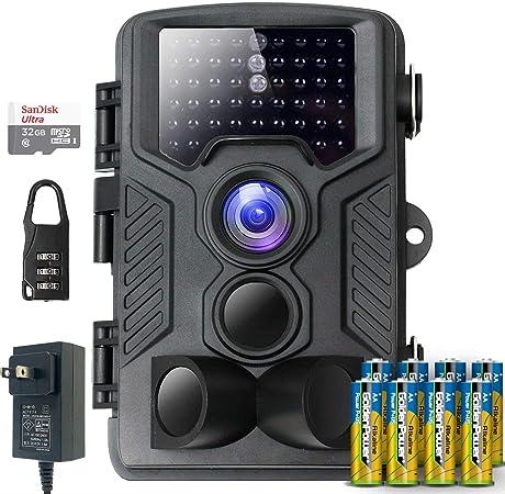 FL-Products防犯カメラ防水暗視トレイルカメラフルセット人感センサーフルHD動態検知1080P不可視赤外線LEDライト搭載120°検知