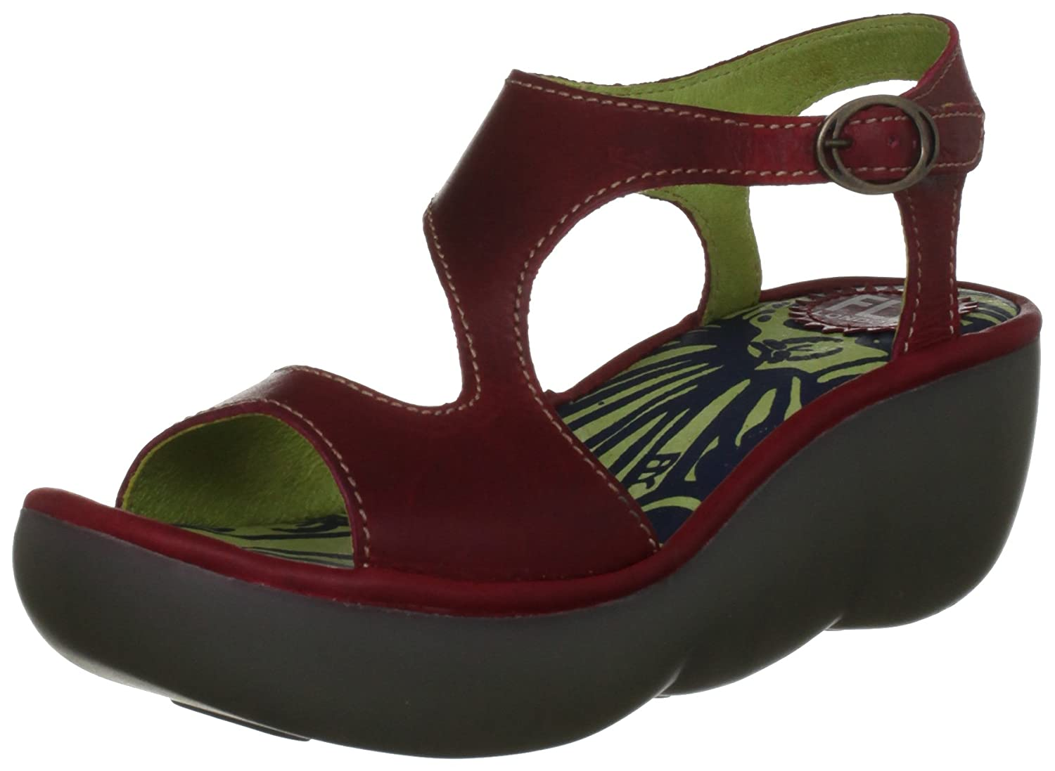 Fly London Bianca, Sandales Bianca, compensées femme Rouge London Rouge (Red) 97e76c4 - fast-weightloss-diet.space