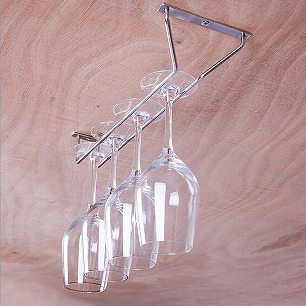 Wine Glass Hanger Rack Stemware Glass Wall Mounted Rack Wine Cup Cabinet Storage Stemware Rack Hanger Holder SmileyUS