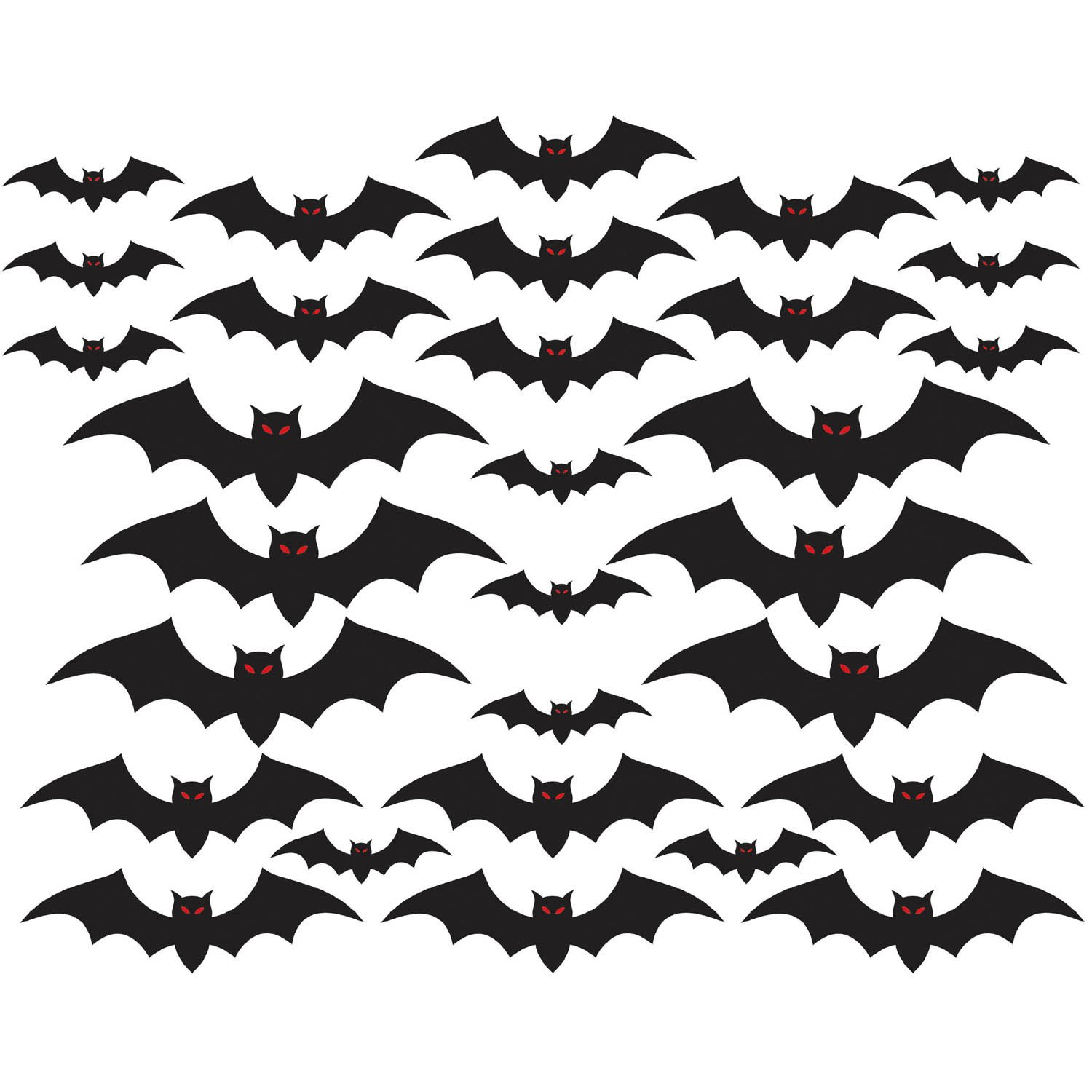 amazoncom halloween cemetery bat cutouts mega value pack 30 pack toys games - Bat Halloween Decorations