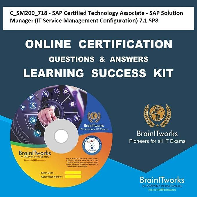 Csm200718 Sap Certified Technology Associate Sap Solution