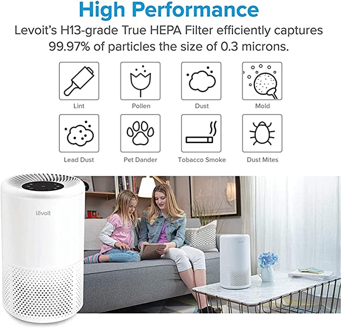 2 X  For LEVOIT Vista 200 Air Purifier Filter 3-In-1 3 Stages Filtration System