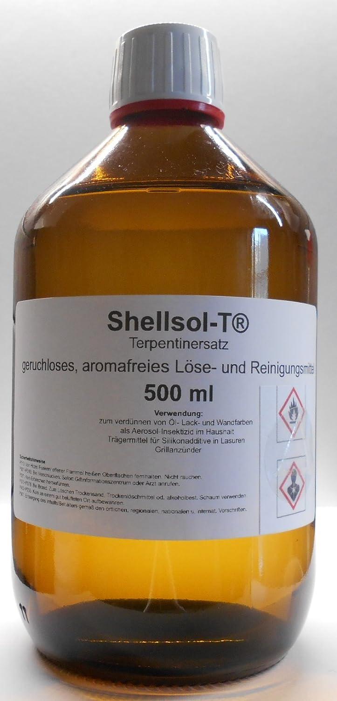 500 ml Shellsol-T® ,Terpentinersatz, geruchloses, aromafreies Lö semittel und Pinselreiniger Iso-Aliphaten Kohlenwasserstoff Unbekannt