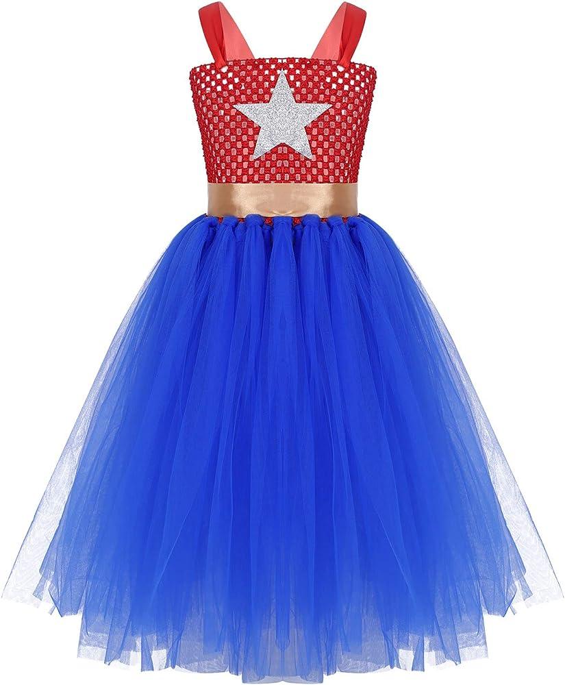 MSemis Vestido de Fiesta Cumpleaños Disfraz de Superheroina para ...
