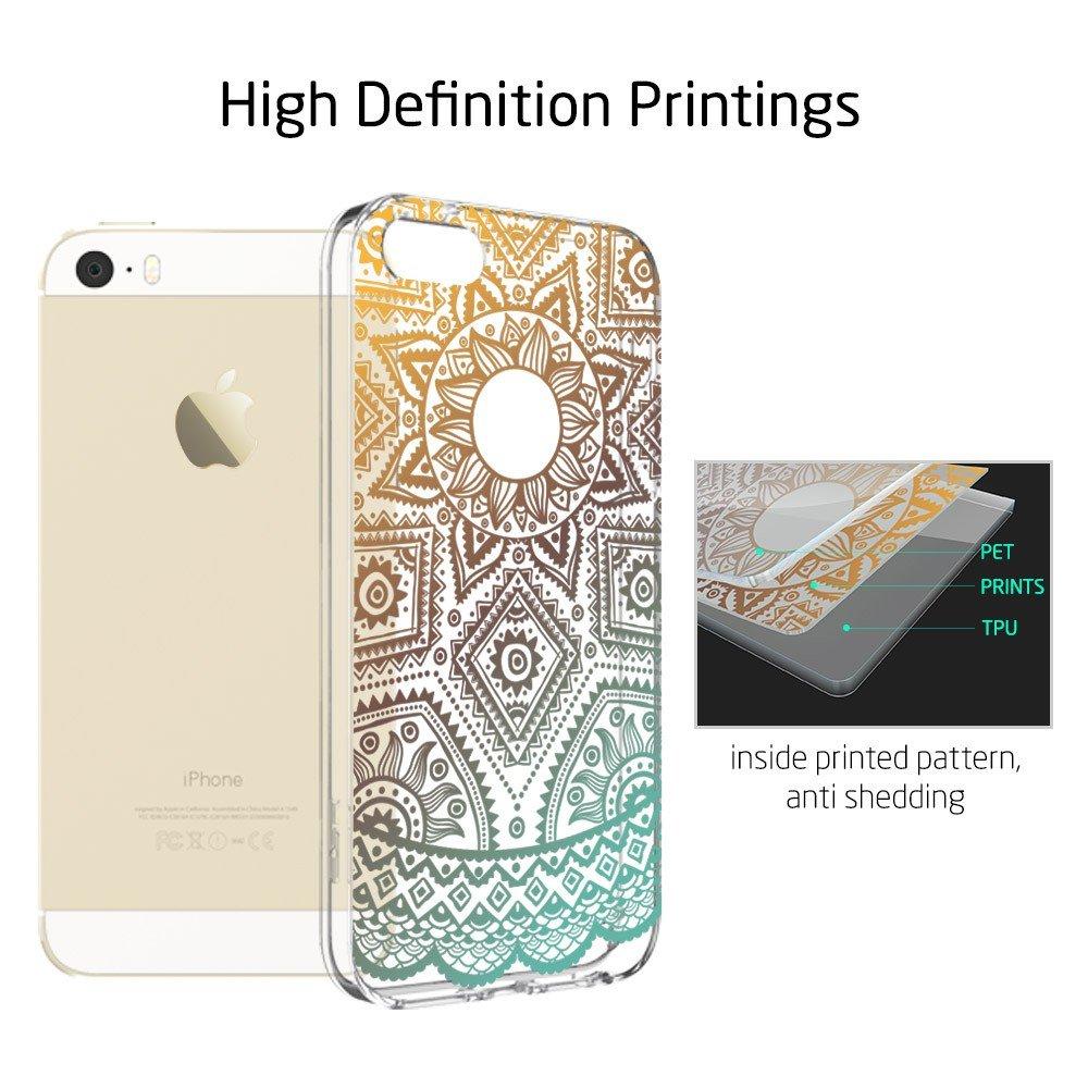 IPhone SE 5S Case ESR Henna Mandala Floral Designer Amazoncouk Electronics