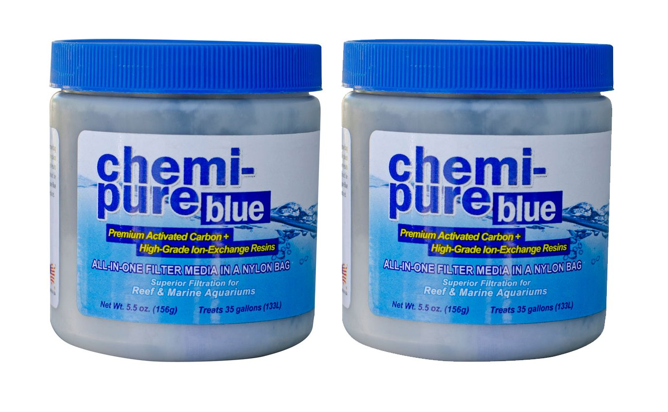 Boyd Enterprises Chemi-Pure Aquarium Filtration Media, 5.5-Ounce, Blue (2-Pack)