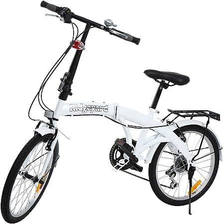 Bicicleta plegable Ridgeyard de 6 velocidades, de 20 pulgadas con ...