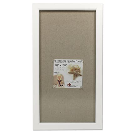 Amazoncom Lawrence Frames 10x20 White Shadow Box
