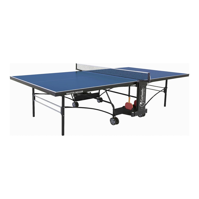 Garlando Mesa Ping Pong Master Indoor Con Ruote Per Interno Azul