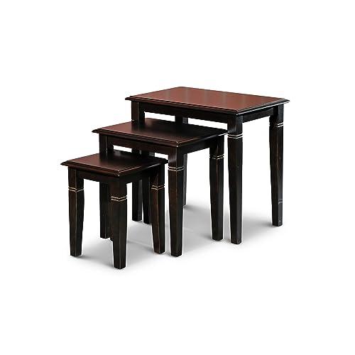 DTY Indoor Living Golden 3-Piece Nesting Table Collection – Espresso