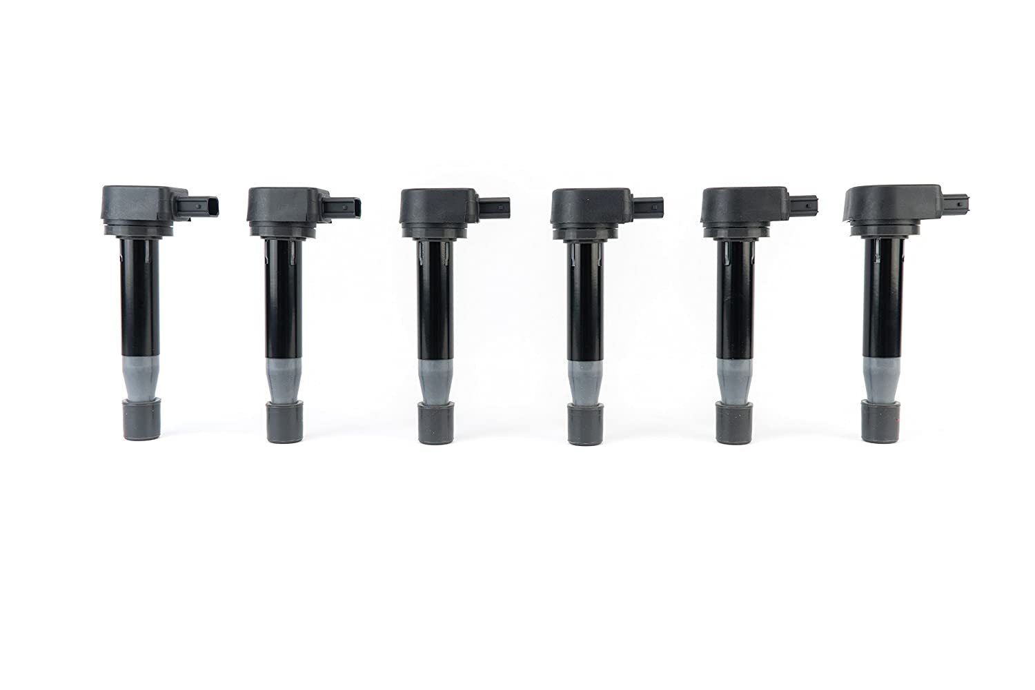 Ignition Coil Pack Set of 6 - Replaces# 610-58547B, 30520-RCA-A02 - Acura TL 3.2 V6 1999 - 2008 - Acura CL 2001 - 2003 - Acura RL 2005 - 2011 - Honda Odyssey 1999 - 2010 - Honda Accord V6 2000 - 2007 Image