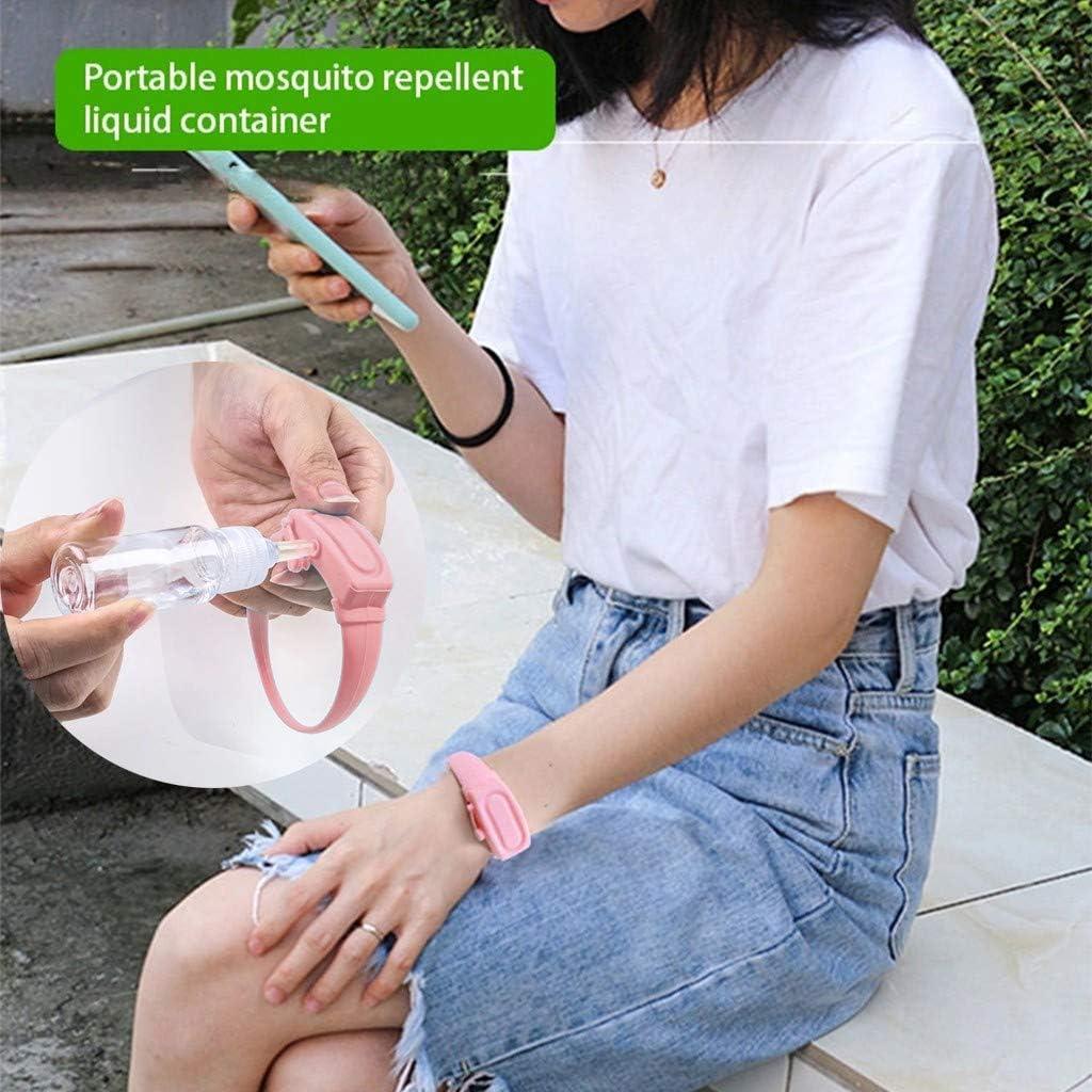 Earleye0 Dispensador de Jab/ón para Correa Port/átiles Silicona Ajustable Apriete la Correa de Mano de Viaje Reutilizable Prueba de Fugas Rellenable Contenedor Botellas